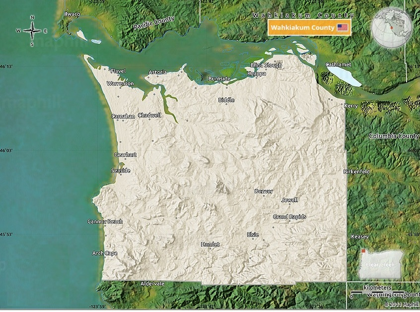 Maps Clatsop County on